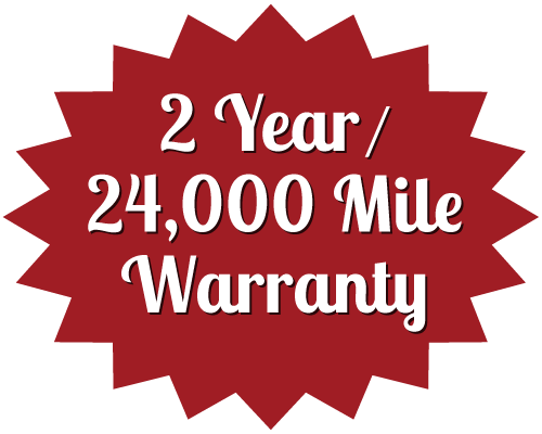 2 Year / 24,000 Mile Warranty